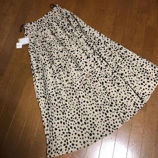 しまむら - レオパード プリーツロングスカート 新品未使用