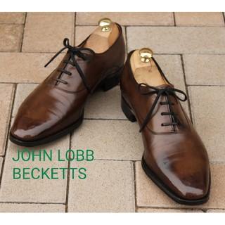 JOHN LOBB - 美品ジョンロブベケッツ!7H1/2EE#8000超絶技巧のプレーントゥ