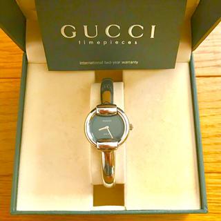 Gucci - 【大特価!!】LADIES GUCCI サークル腕時計 1400L ブラック🎀