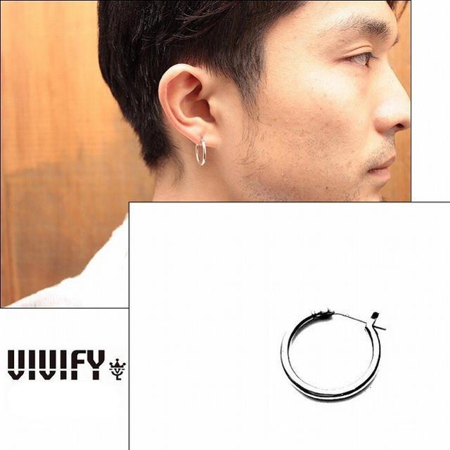 VIVIFY(ビビファイ)のVIVIFY フープピアス 2つ 両耳用 メンズのアクセサリー(ピアス(両耳用))の商品写真