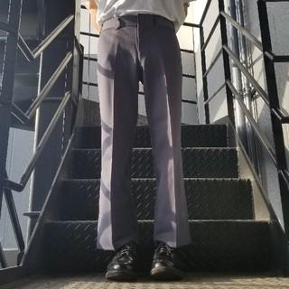 JOHN LAWRENCE SULLIVAN - ヴィンテージ スラックス トラウザー フレアパンツ グレー パープル ブルー