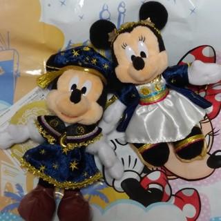 ディズニー(Disney)の** ディズニーシー 18周年 ミッキー ミニー ぬいぐるみバッジ ぬいば **(ぬいぐるみ)