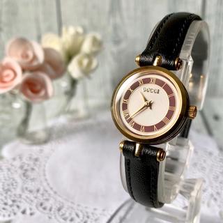 Gucci - 【電池交換済み】GUCCI グッチ シェリーライン 腕時計 レッド レディース