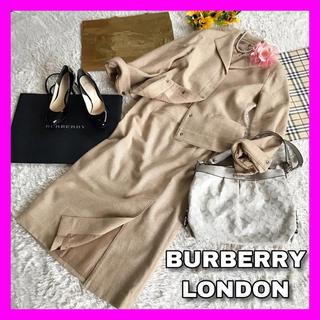 カシミヤ❣【美品】BURBERRY バーバリーロンドン★ロングスカート スーツ