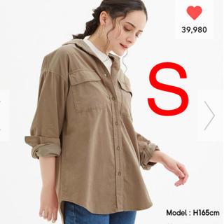 GU - 人気完売  GU コーデュロイオーバーサイズシャツ