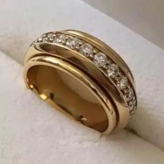 ジバンシィ(GIVENCHY)のGIVENCHY ジバンシー エタニティ リング 18KYG ダイヤモンド 8号(リング(指輪))