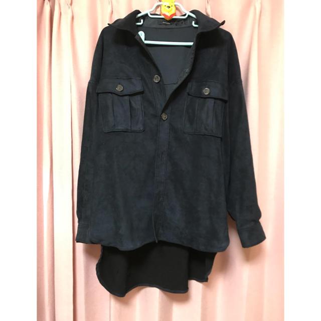 JEANASIS(ジーナシス)のネイビースエード調ジャケット レディースのジャケット/アウター(ノーカラージャケット)の商品写真
