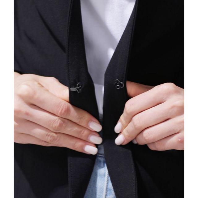 nano・universe(ナノユニバース)の美品☆nano・universe ストレッチジャケット ベージュ レディースのジャケット/アウター(ノーカラージャケット)の商品写真