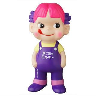 MEDICOM TOY - 【最安値】不二家ソフビコレクション ペコちゃん 紫オーバーオール