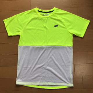 ニューバランス(New Balance)のニューバランス new balance ランニングシャツ 蛍光イエロー M 中古(ウェア)