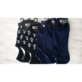 ウィゴー(WEGO)の12【新品】wego メンズ ソックス 6足(ソックス)