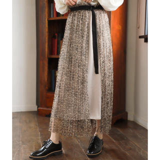 mysty woman - 【WEB限定アイテム】美品mysty woman ラップチュールプリーツスカート