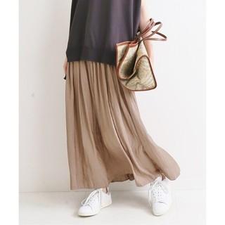 IENA - IENA【イエナ】☆ヴィンテージ サテンマキシスカート 新品38 ブラウンC