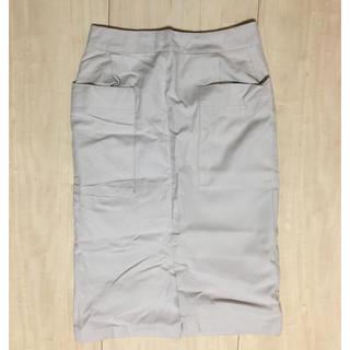 イッカ(ikka)のikka 白タイトスカート(ひざ丈スカート)
