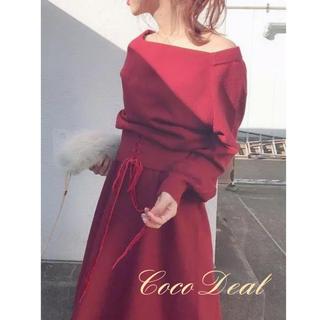 ココディール(COCO DEAL)のCOCO DEAL ♡ レースアップコルセットニットワンピース(ひざ丈ワンピース)