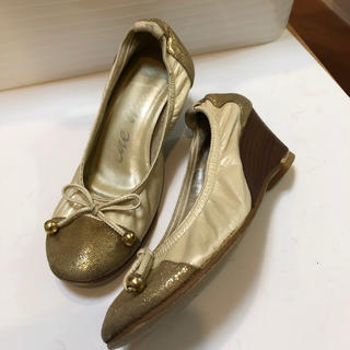 ウェッジソール革靴21㎝(ハイヒール/パンプス)