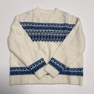 GU - GU ノルディック柄 ニット セーター