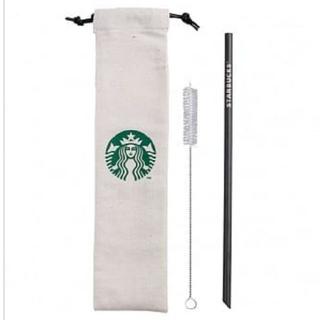 Starbucks Coffee - スターバックス [黒  ストローセット チタン ]スタバ 台湾 海外 ブラック