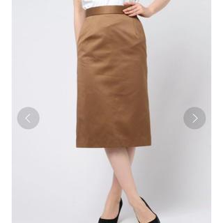 デミルクスビームス(Demi-Luxe BEAMS)の【Demi-Luxe BEAMS】コットンサテンタイトスカート(ひざ丈スカート)