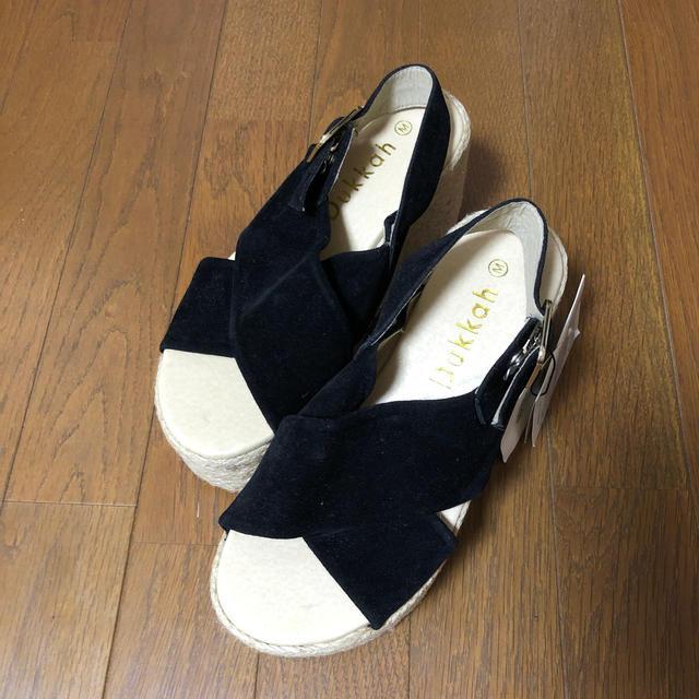 WEGO(ウィゴー)のWEGO/厚底クロスサンダル  Lサイズ レディースの靴/シューズ(サンダル)の商品写真