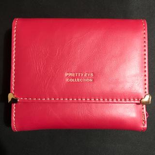 新品未使用☆ 三つ折り財布 ウォレット 赤 レッド ハート(財布)