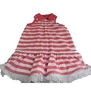 ラルフローレン(Ralph Lauren)のRALPH LAUREN  ロゴ付きTシャツ【KIDS】(ワンピース)