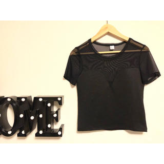 エイチアンドエム(H&M)のH&M💕新品シースルービスチェTシャツ(Tシャツ(半袖/袖なし))