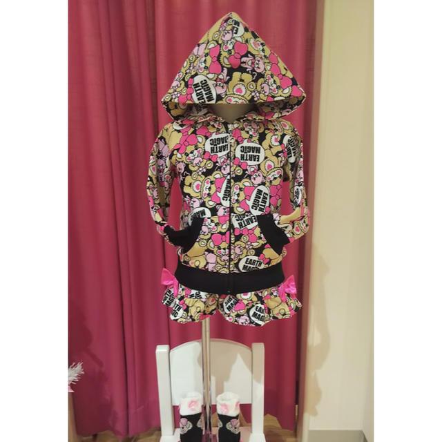 EARTHMAGIC(アースマジック)の最終値下げ アースマジック スカパン キッズ/ベビー/マタニティのキッズ服 女の子用(90cm~)(スカート)の商品写真