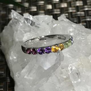 天然石アミュレットリング17号☆sv925☆ハーフエタニティ(リング(指輪))