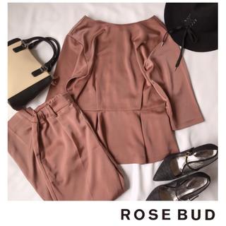 ROSE BUD - 【美品】ローズバッド サテンセットアップ ピンク パーティーにも♪