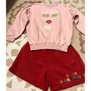 ピンクハウス(PINK HOUSE)のお値下げ❗️ベビーピンクハウス トレーナーとパンツのセット(Tシャツ/カットソー)