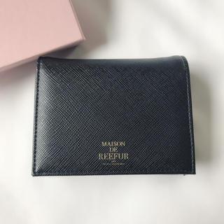 メゾンドリーファー(Maison de Reefur)の【未使用】ミニウォレット 財布 折り財布 黒(財布)