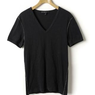 グッチ(Gucci)の☆週末値下げ☆【GUCCI】グッチ メンズ Vネックカットソー(M/ブラック)(Tシャツ/カットソー(半袖/袖なし))