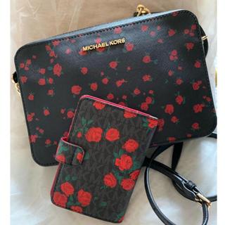 Michael Kors - 新品未使用 マイケルコース 薔薇ショルダーバッグ パスポートケース セット