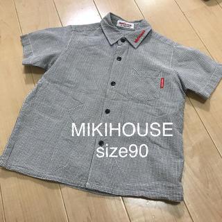 mikihouse - MIKIHOUSE ミキハウス 可愛いチェックシャツ♡