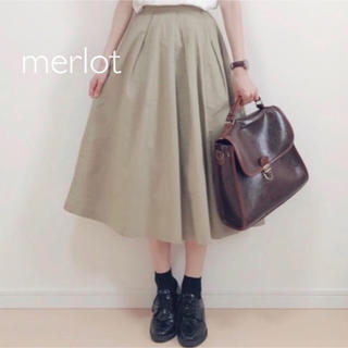merlot - メルロー コットンフレアタックスカート
