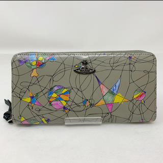 ヴィヴィアンウエストウッド(Vivienne Westwood)のVivienne Westwood 長財布 ファーレルニッサ グレー オーブ(財布)