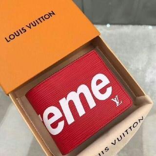 Supreme - 超人気 2折 Supreme & Louis Vuitton 長財布 赤色