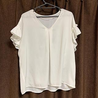 ジーユー(GU)の袖フリル ブラウス(シャツ/ブラウス(半袖/袖なし))