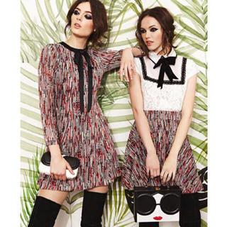 Alice+Olivia - 美品♡alice+olivia/アリスアンドオリビア♡赤黒白ベージュミニスカート