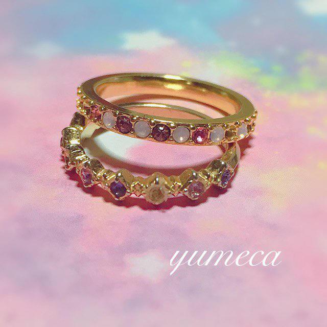 華奢イニシャルとスワロ2連リング💍 レディースのアクセサリー(リング(指輪))の商品写真