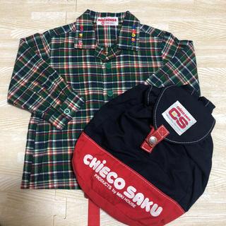 ミキハウス(mikihouse)のミキハウス チェックシャツ 80 & チエコサク ベビーリュック(その他)