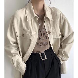 アーバンリサーチ(URBAN RESEARCH)のimport❁︎オーバーサイズ シャツ ジャケット ベルト付き(シャツ/ブラウス(長袖/七分))