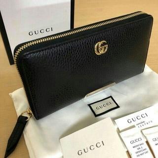 Gucci - GUCCI ラウンドファスナー 黒 マーモント GG