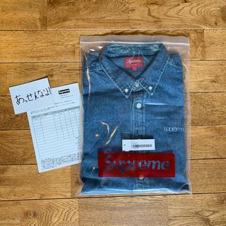 Supreme - L 19AW Supreme Denim Shirt Blue