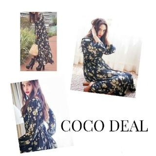 COCO DEAL - COCO DEAL ヴィンテージフラワーロングワンピース 石田ニコル