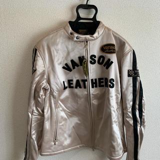 バンソン(VANSON)のバンソン 40周年モデル ライダースジャケット ベージュ SIZE:X X L(ライダースジャケット)