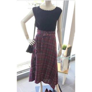 Mila Owen - 美品 ミラオーウェン ヘムラインツイードスカート