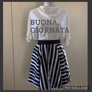 BUONA GIORNATA - ボナジョルナータ ボーダースカート