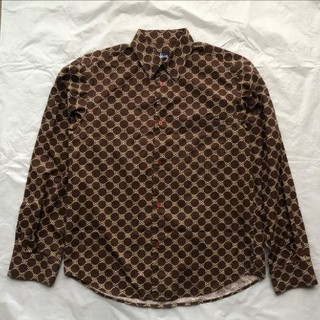 ステューシー(STUSSY)のstussy 長袖 シャツ モノグラムシャツ オーバーサイズシャツ(シャツ)